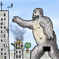 Me beating up King Kong